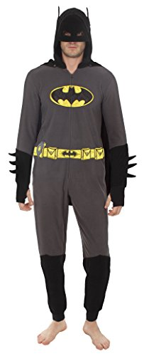Underboss Unisex Super Super Hero One Piece Union Suit Batman Small/Medium ()