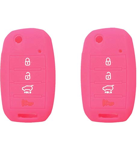 Silicone Smart Key Fob Covers Case Protector Keyless Remote Holder for Kia Sorento Sportage Rio Soul Forte Optima Carens (Not Fit Smart Key Fob)