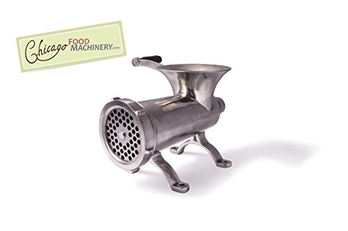 Chicago Food Machinery CFM-SS#32 Meat Grinder, Stainless Steel by Chicago Food Machinery