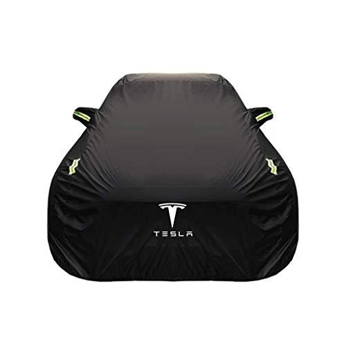 Car Cover Tesla Model S Special Car Cover Abbigliamento auto Tessuto spesso Oxford Protezione solare Copertura antipioggia Car Cloth Car Cover (Color : Oxford cloth – single layer)