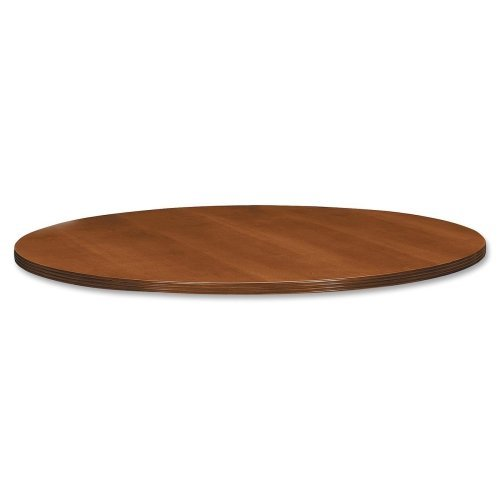 - Basyx Round Table Top with Duo Edge, 42 by 1-1/2-Inch, Bourbon Cherry