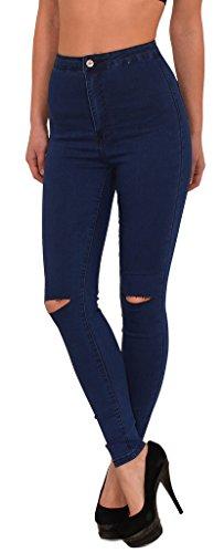 Jean femme skinny Jeans femmes genou pantalon en jean femme dchir slim surdimensionner J184 J232