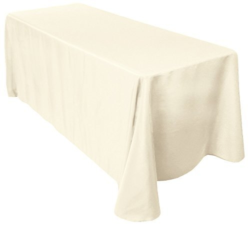 12 Pack 90x156 Polyester Table Linens (Ivory)