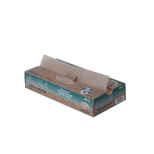 Handy Wacks Interfolded Green Wax Deli Paper, 12 X 10.75 inch - 2000 sheets per case.