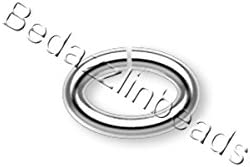 100 Silver Plated Open Jump Rings 7MM 18 Gauge Beading Supply Findings