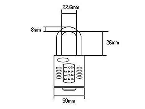40 mm Length Henry Squire 4 Wheel Combination Padlock