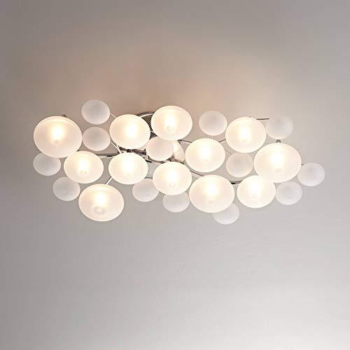 "Modern Lilypad Ceiling Light Semi Flush Mount Fixture Chrome 30"" Wide Kitchen Bedroom - Possini Euro Design"
