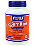 Now Foods L-Carnitine 1000 mg - 50 Tabs 12 Pack
