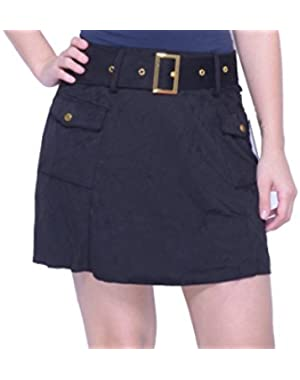 Guess Eunice Belted Jet Black Skirt Size S