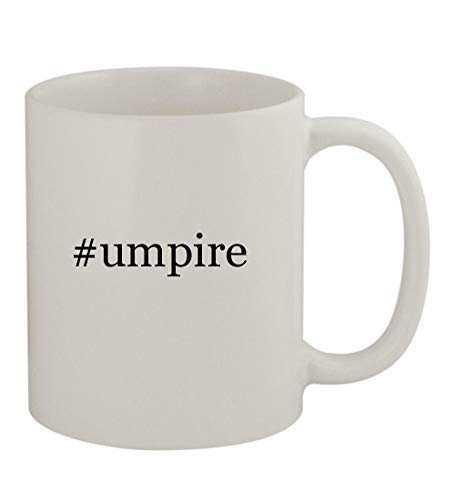 #umpire - 11oz Sturdy Hashtag Ceramic Coffee Cup Mug, White ()
