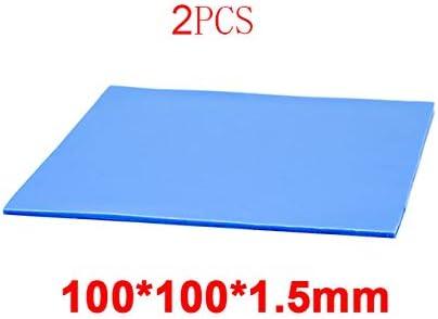 RGEEK 10mm10mm0.5mm 100 pcs Thermal Pad GPU CPU Heatsink Cooling Conductive Silicone Pad