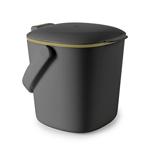 Odor Free Compost Bucket - OXO Good Grips Easy Clean Compost Bin, Charcoal