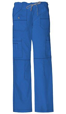 Dickies Women's Plus Size Genflex Cargo Scrubs Pant, Royal, XXX-Large Petite