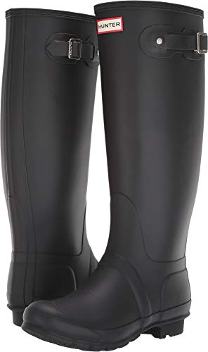 - Hunter Original Tall Wellies Rainboots Black Women's Boots 6 M US
