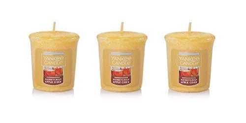(Yankee Candles Honeycrisp Apple Cider Samplers Votive Candles Set of 3)