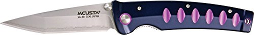 Mcusta Katana MC-43C, Blue/Violet Aluminum Handle, VG-10 Layered Bl., Plain
