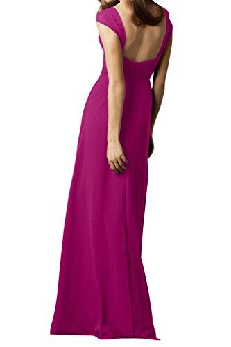 Festkleid Abendkleid Damen Chiffon Linie Einfach A Traeger Ivydressing Fuchsie Promkleid W18xwfn0