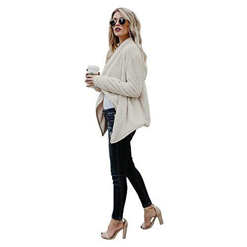 Autunno Elegante Giovane Donna Tempo Button Cardigan Outwear Swag Grau Monocromo Streetwear Coat Libero Giubotto Manica Saoye Bavero Fashion Lunga xqItwEnf6