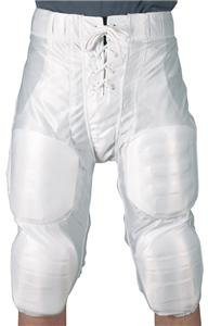 White Youth Small Football Pants Slotted for Thigh & Knee Pads