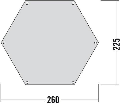 Tatonka Hexagonal Tent Underlay 260 x 225 cm