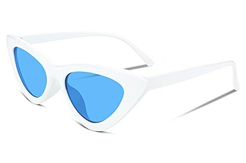 FEISEDY Small Cat Eye Design Clout Goggles Kurt Cobain Sunglasses - Cat Kurt Cobain