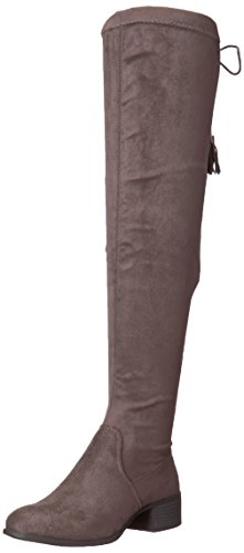 Madden Girl Women's Prissley Riding Boot Grey Fabric