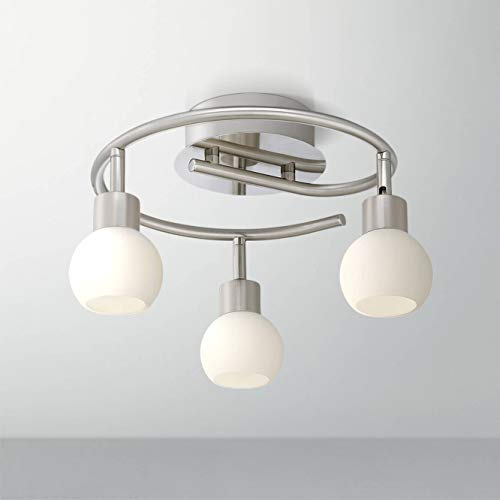 Pro Track Satin Nickel 3-Light LED Ceiling Fixture - Pro Track