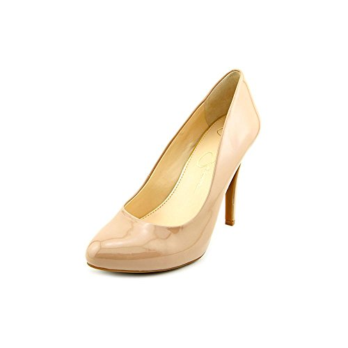 Jessica Simpson Women's Malia Dress Pump,Nude Patent,8 M US