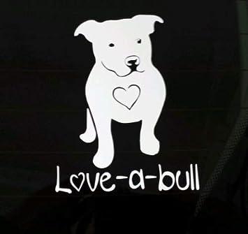 Truck Windows Love A Bull Car Decal Dog Heart Vinyl Sticker