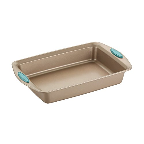 Rachael Ray Nonstick Bakeware 5-Piece Set, Latte Brown with Agave Blue Handle Grips by Rachael Ray (Image #7)