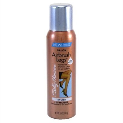 Sally Hansen Airbush Sun Self-Tanner for Legs-Tan Glow-4.4oz, 2 pack
