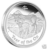1OZ YEAR OF THE OX 2009 SILVER COIN