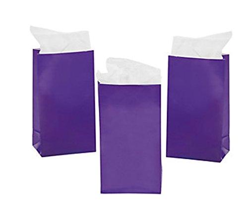 MINI PURPLE PAPER TREAT BAGS (2 DOZEN) - BULK