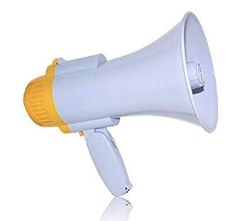 Meg/áfono altavoz profesional port/átil con ajuste de volumen sirena y mango plegable