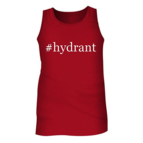 Tracy Gifts #Hydrant - Men's Hashtag Adult Tank Top, Red, (Red Hydrant Tag)