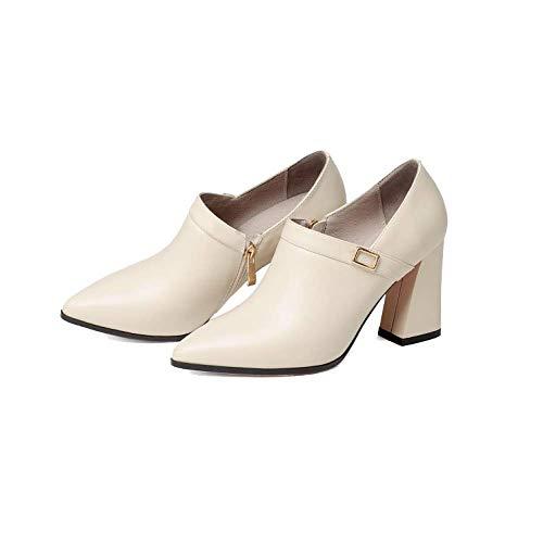 élégantes Confortables Beige Chaussures Hauts pour Femmes Simples Polyvalentes Talons ZPEDY Pointues Ygq0Sxw