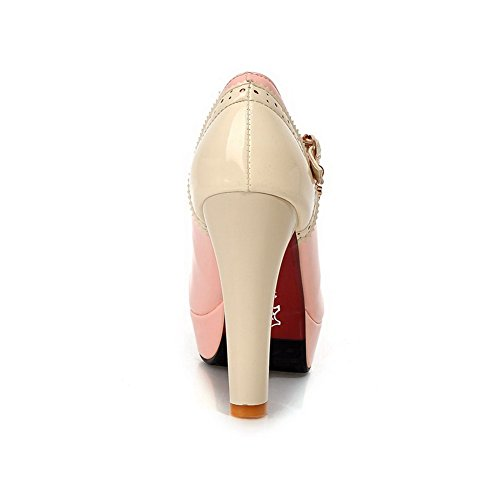 BalaMasa donna in pizzo ornamento colori assortiti in vernice pumps-shoes, Rosa (Pink), 38 EU
