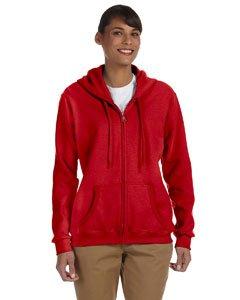 Gildan womens Heavy Blend 8 oz. 50/50 Full-Zip Hood(G186FL)-RED-2XL by Gildan