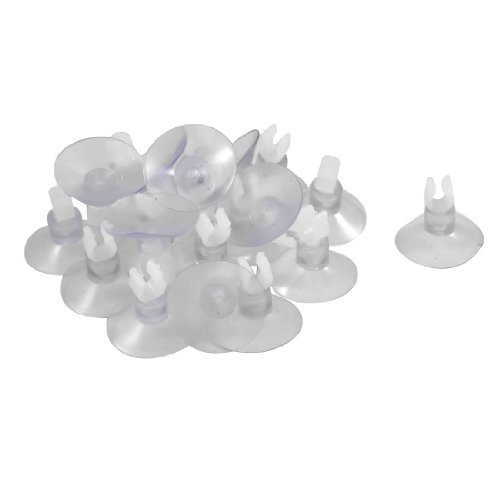 Jardin Suction Cup Airline Tube 20-Piece Holders/Clips/Clamps for Aquarium, Clear