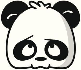 Amazon Com Divine Designs Cute Cartoon Panda Head Icon 9 Black White Vinyl Decal Sticker Two In One Pack 4 Inches Wide Home Kitchen
