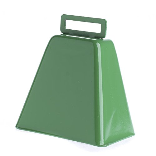 Trio of Vivid Green Metal Cowbells for Showing Team Spirit, Western Theme Parties, and Decor -