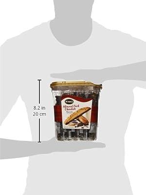 Nonni's Almond Dark Chocolate Biscotti: 25 Count, 2lb,1.25 oz (943 g)