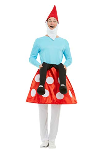 Smiffys 50964M Gnome Toadstool Costume, Men, Blue & Red, M - Size 38