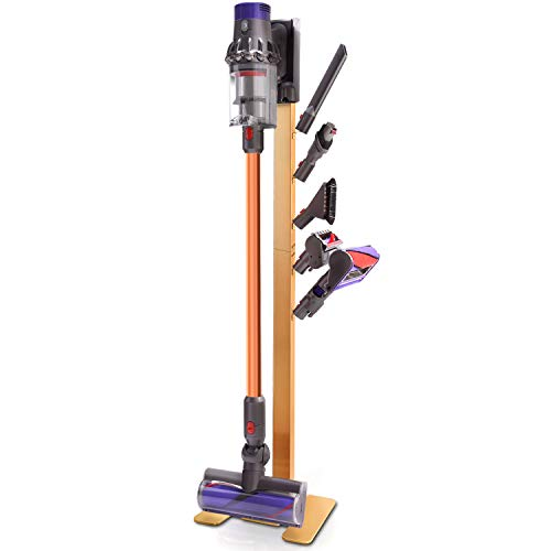 XIGOO Vacuum Docks Station Holder Stand for Dyson V11 V10 V8 V7 V6 Cordless Vacuum Cleaners & Accessories, Stable Metal Organizer Rack, Brushed ()