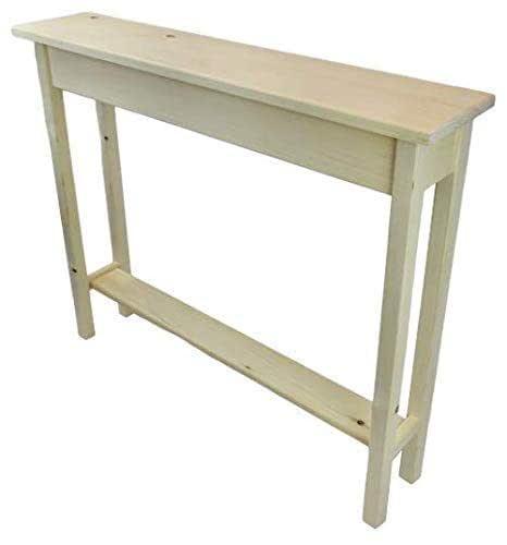 "Amazon.com: 36"" Narrow Console Sofa Table - Unfinished Foyer Pine"