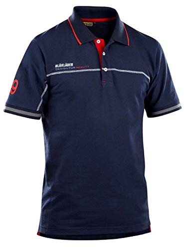 Blaklader 332710508956XXL Branded Poloshirt, XX-Large, Navy Blue/Red by Blaklader (Image #1)