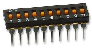 SWITCH, DIL, 10WAY A6T-0104 By OMRON ELECTRONIC COMPONENTS A6T-0104-OMRON ELECTRONIC COMPONENTS
