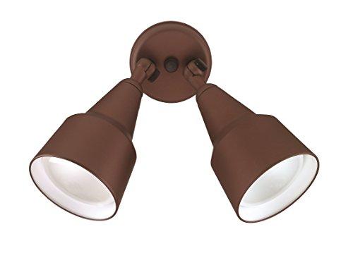 NICOR Lighting 150-Watt Double Cone Shaped Adjustable Outdoor Flood Light, Bronze (11128) by NICOR Lighting