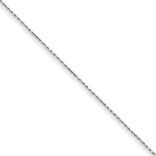 Machine Made Rope Chain (14k White Gold 1.15mm Machine-made Rope Chain)