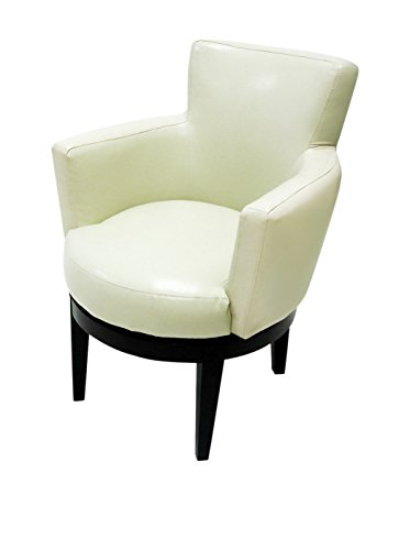 Exceptionnel Armen Living Swivel Club Chair, Cream